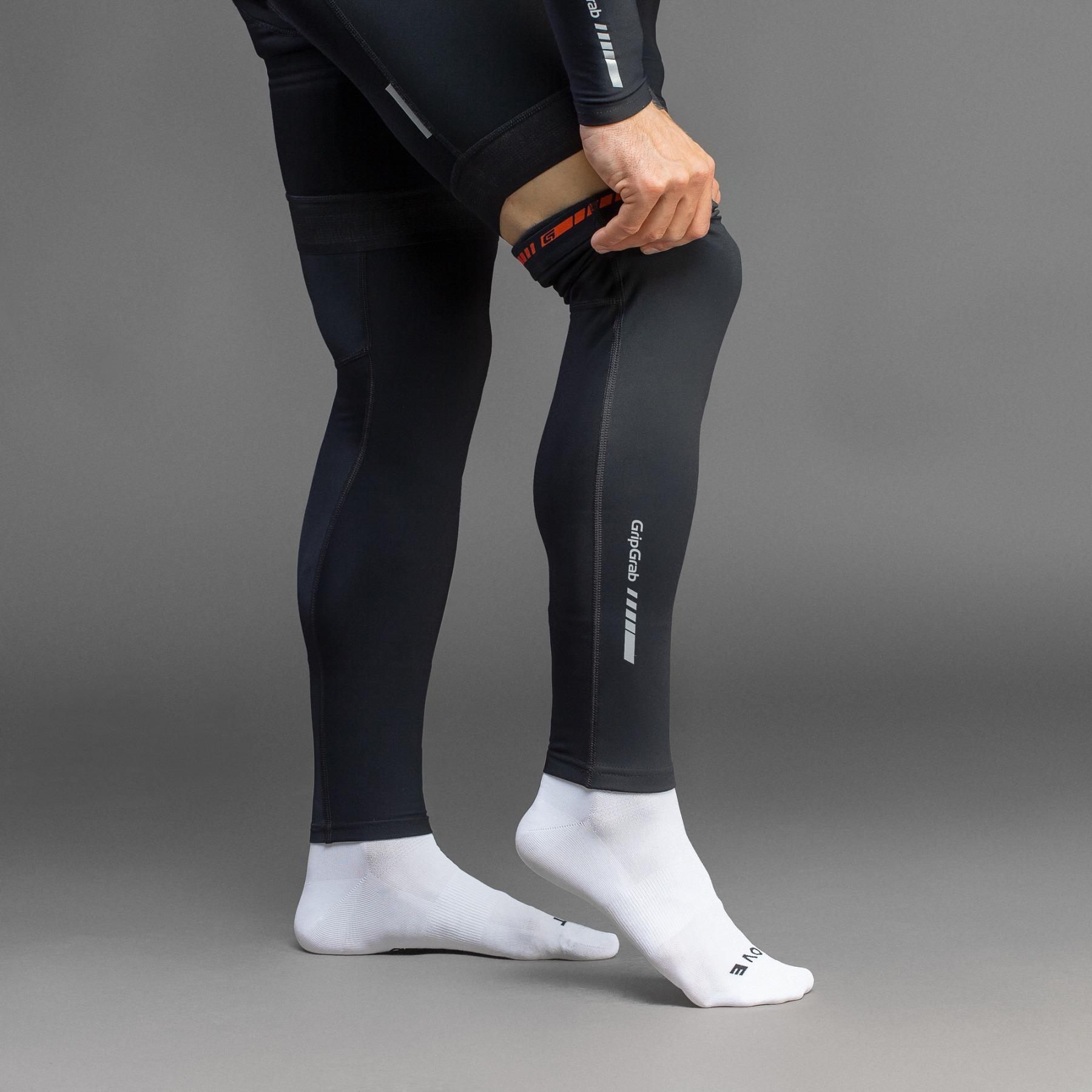 Image of GripGrab AquaRepel Thermal Leg Warmers - Black