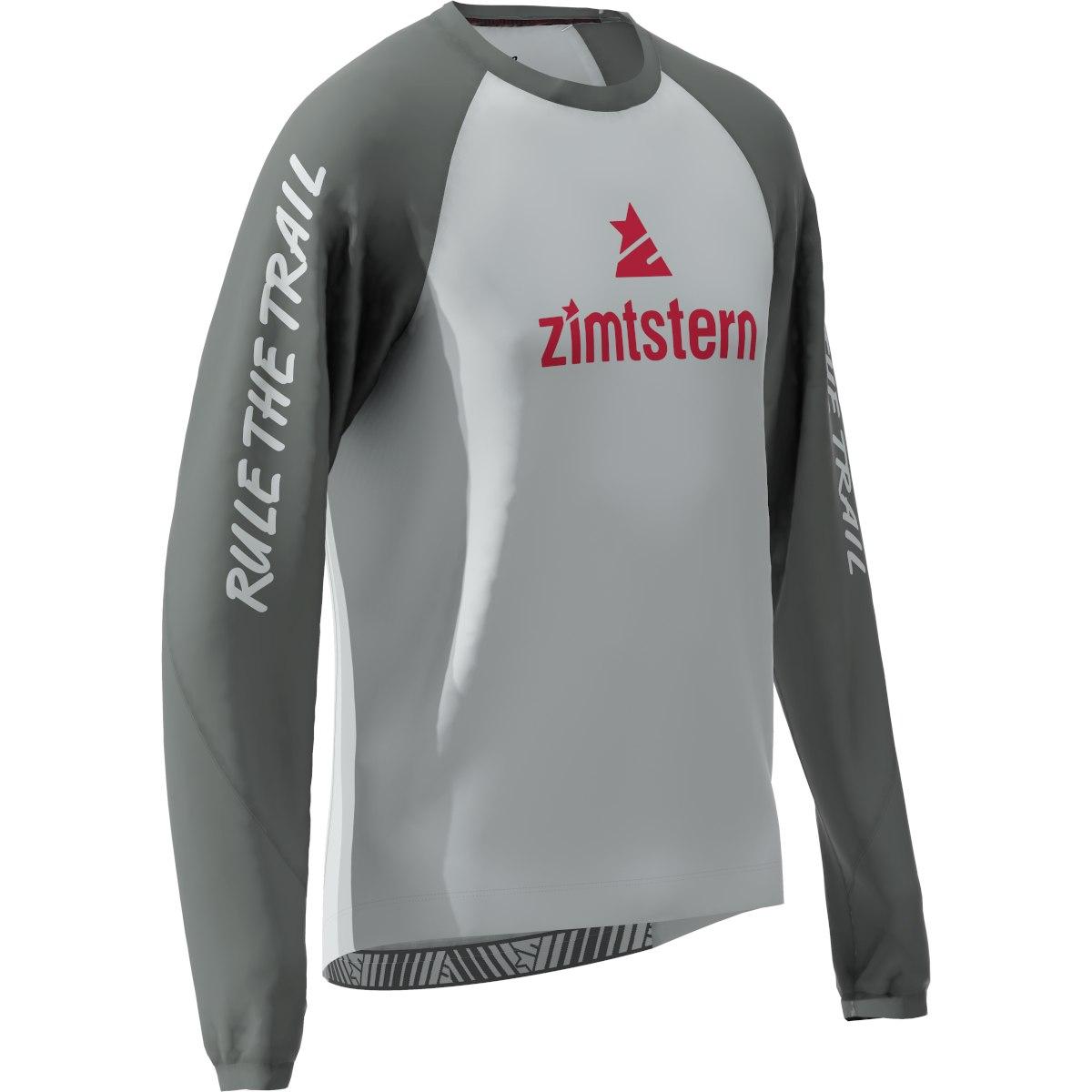 Bild von Zimtstern PureFlowz MTB-Langarmshirt - glacier grey/gun metal/jester red