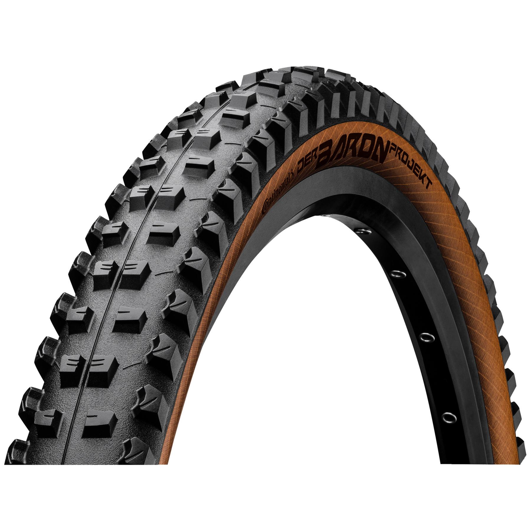 Continental Der Baron Projekt ProTection Apex MTB Folding Tire - 29 x 2.4 Inch - black/bernstein
