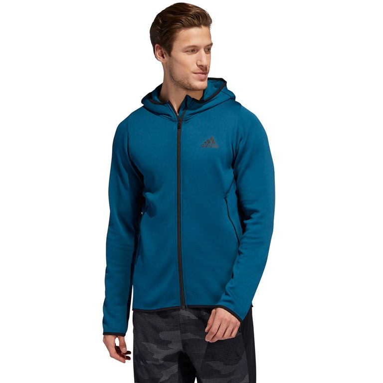 Image of adidas Men's FreeLift Climawarm Hoodie - tech mineral DX9152