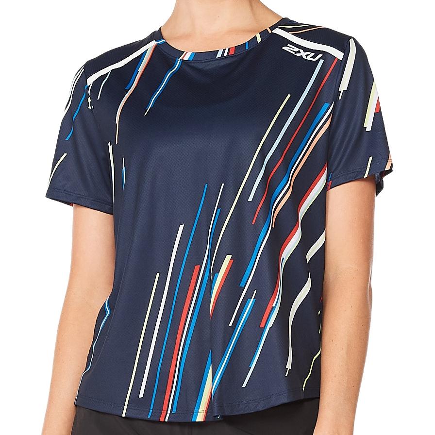 Imagen de 2XU Light Speed Tech Camiseta para mujer - electric stripe/white reflective