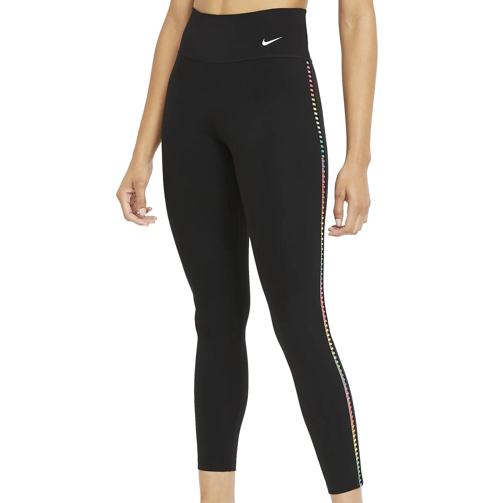 Nike One Rainbow Ladder 7/8 Mallas para mujer - black/white DA0844-010