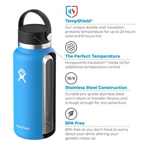 Bild von Hydro Flask 32 oz Wide Mouth mit Flex Cap 2.0 Thermoflasche 946 ml - Cobalt
