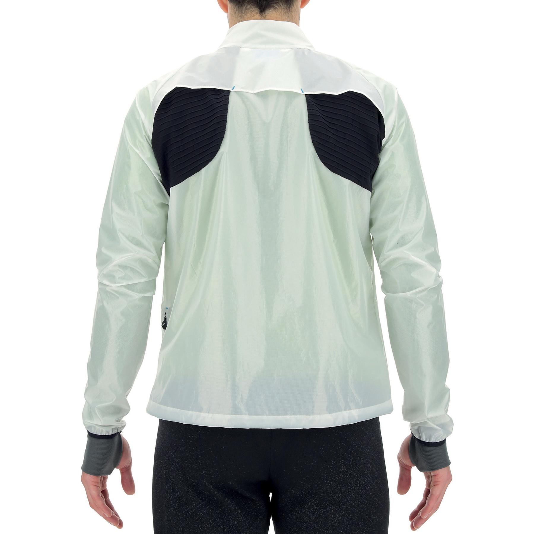 Image of UYN Running Luminance Regular Fit Jacket - Off White Plum/Black
