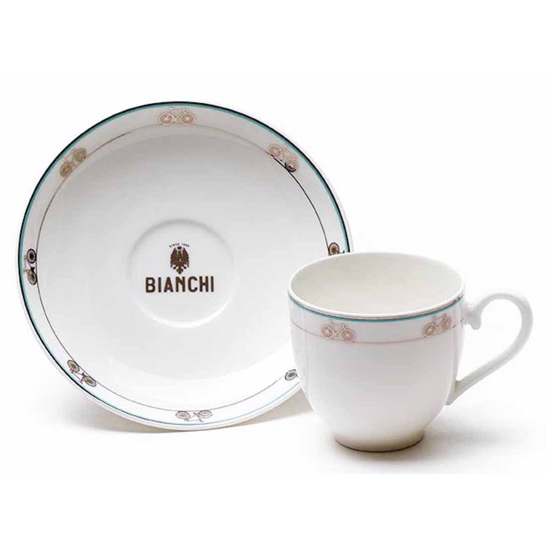 Bianchi Café&Cycles Espresso Cup / Saucer Set