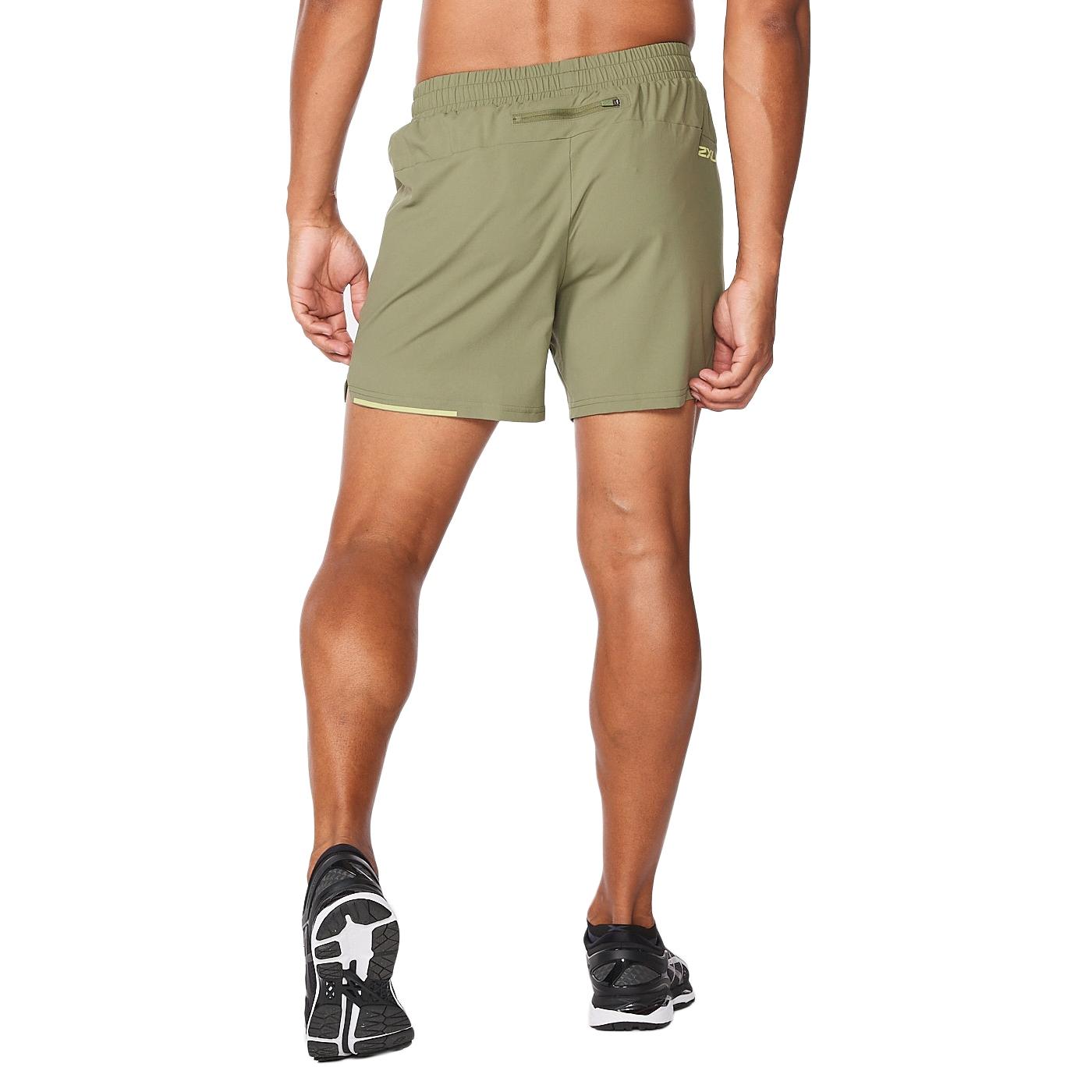 """Imagen de 2XU Aero 5"""" Pantalon corto de correr - alpine/kiwi reflective"""