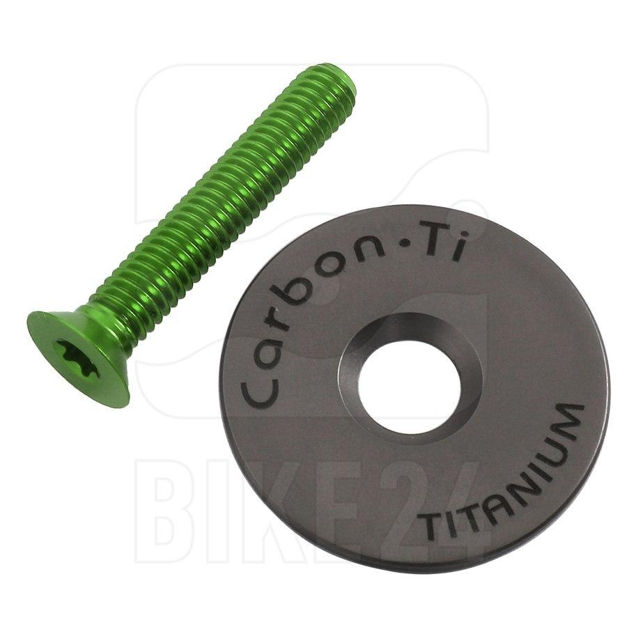 Carbon-Ti X-Cap 3 Ahead Cap - Titanium - acid green