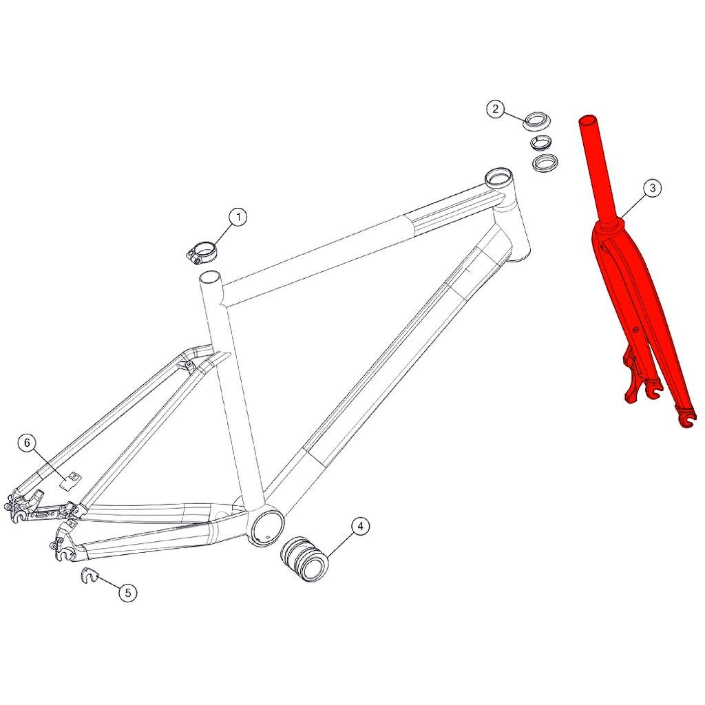 BMC Fork for Alpenchallenge 02 ONE (MY 2018) - 301168 - bronze/bronze/ref