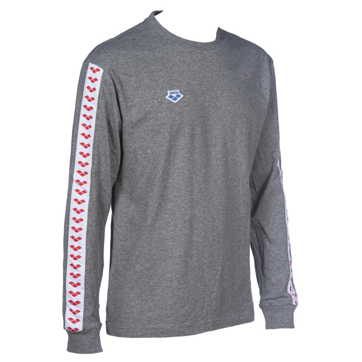 arena Team Long Sleeve Shirt - dark grey melange-white-red