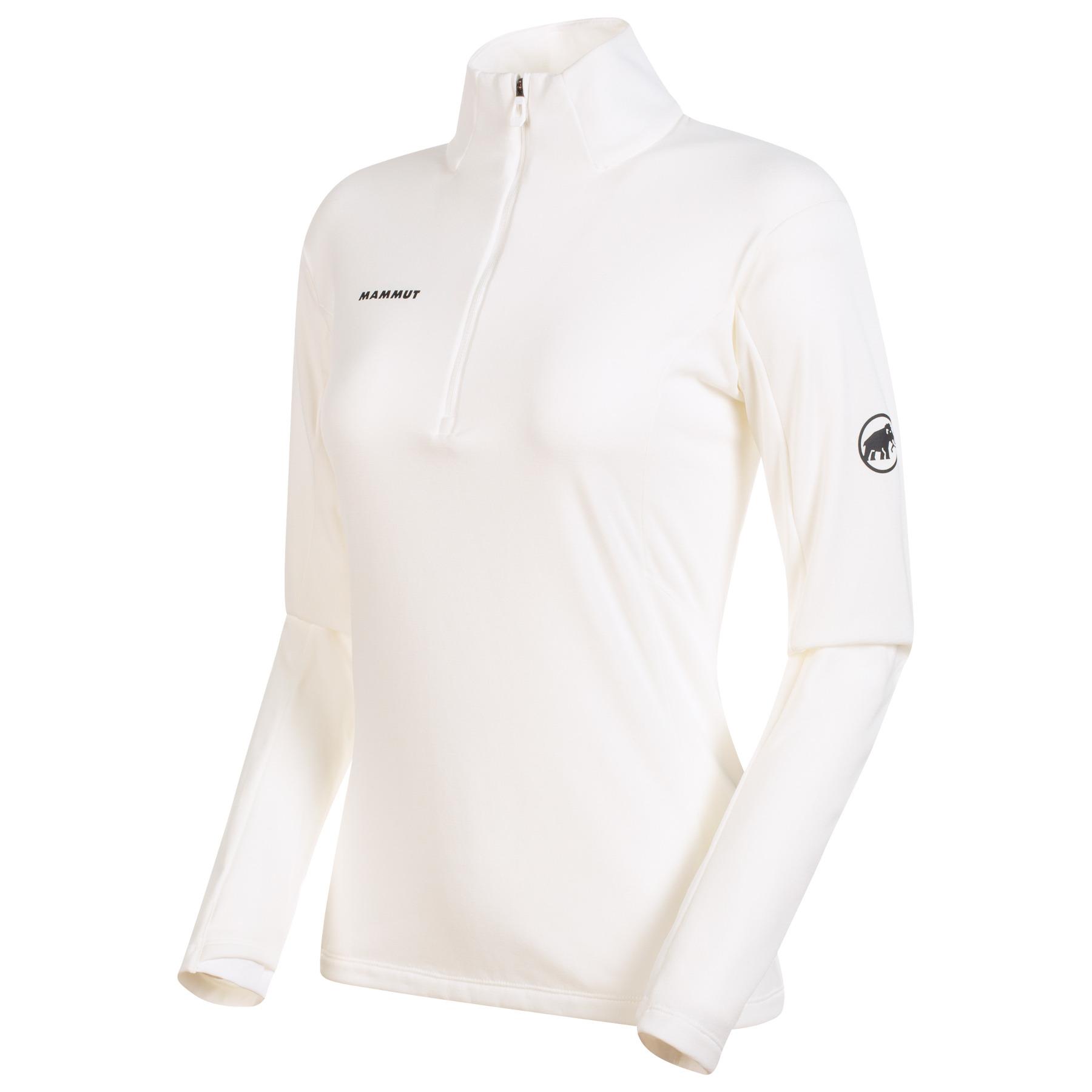 Mammut Moench Advanced Half Zip Damen Langarmshirt - bright white
