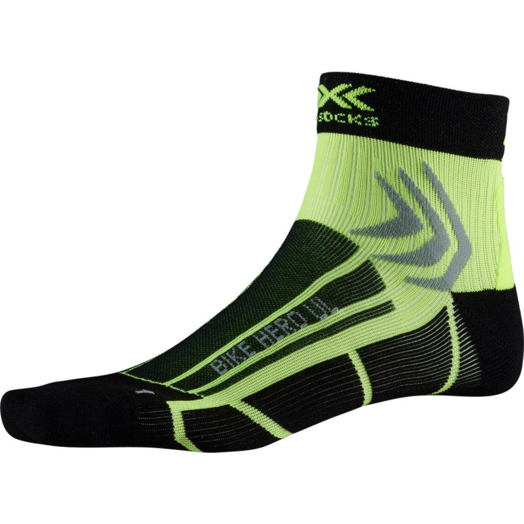 X-Socks Bike Hero UL Socks - opal black/phyton yellow