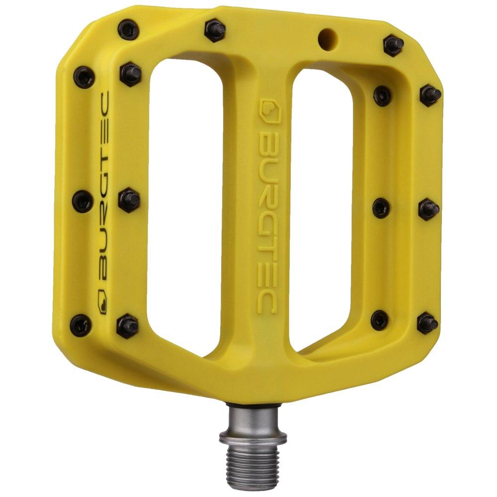 Burgtec Composite MK4 Flat Pedal - sunset yellow