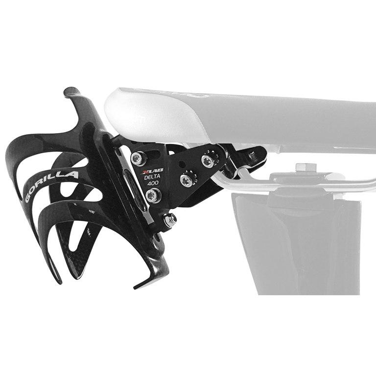 Bild von XLAB Delta 400 Adapter + Gorilla Carbon Flaschenhalter - schwarz