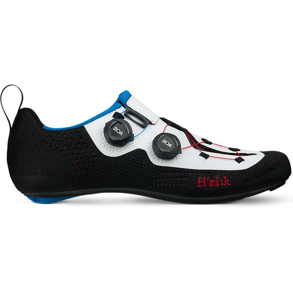 Fizik Transiro Infinito R1 Knit Triathlon Shoe - black/white