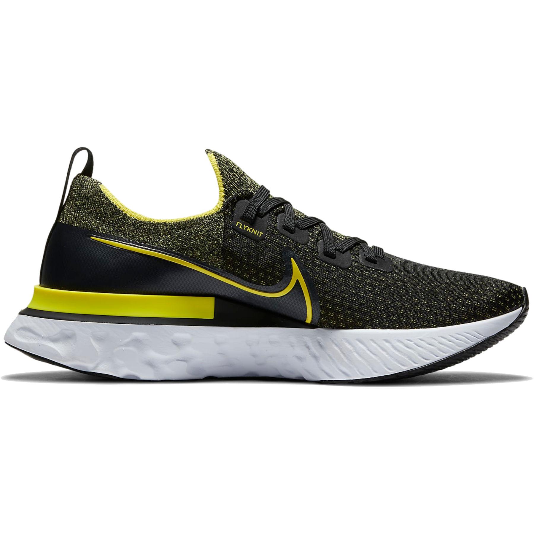 Nike React Infinity Run Flyknit Herren-Laufschuh - black/sonic yellow-white-anthracite CD4371-013