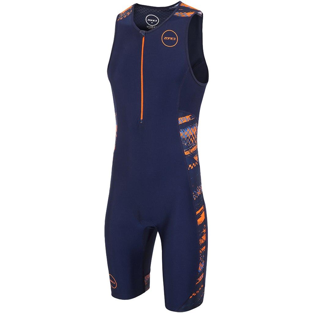 Zone3 Men's Activate Plus Triathlonanzug - Track Speed - navy/orange/blue