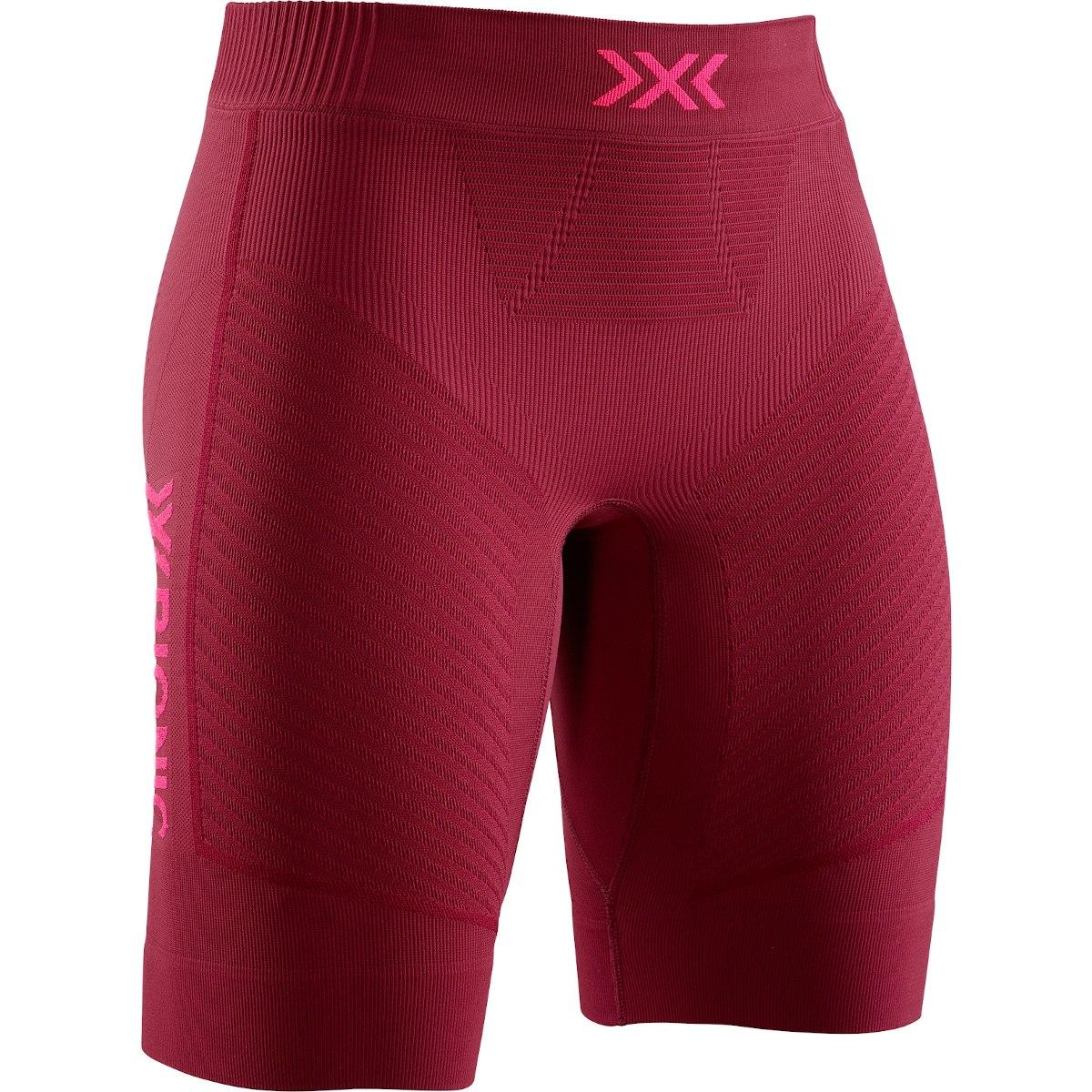 X-Bionic Invent 4.0 Run Speed Laufshorts für Damen - namib red/neon flamingo