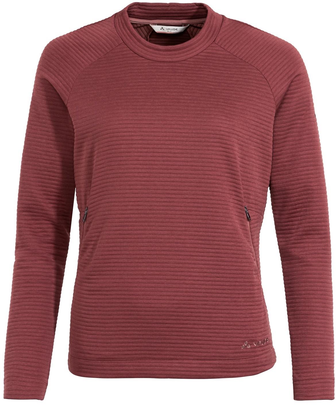 Vaude Mineo Pocket Damen Pullover - red cluster