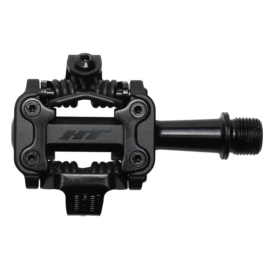 HT M1 XC Klickpedal Aluminium - stealth schwarz