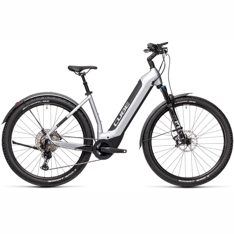 Image of CUBE NURIDE HYBRID SL 625 Allroad - Easy Entry E-Bike - 2021 - polarsilver/black