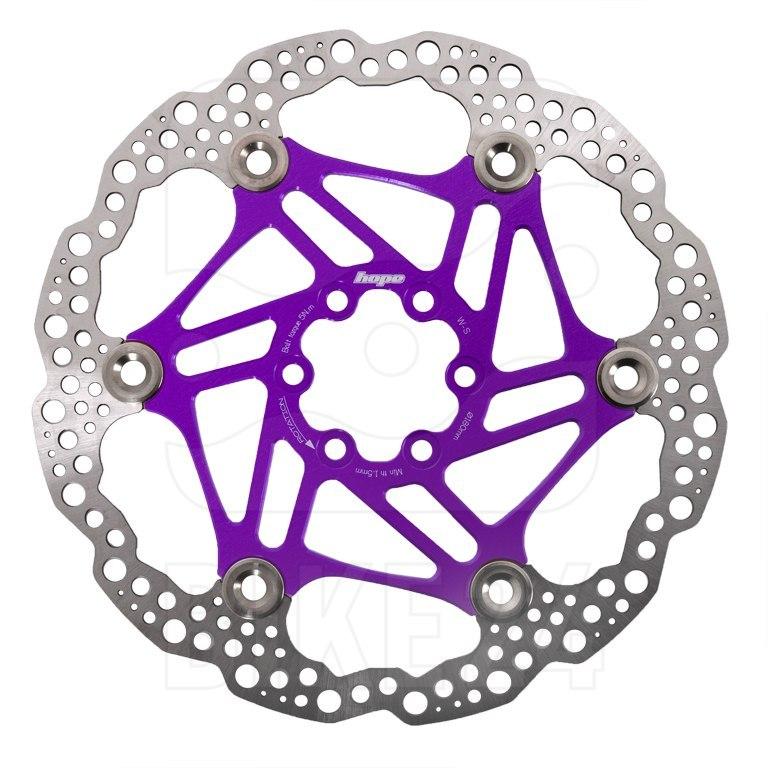 Hope Floating Rotor Brake Disc - purple