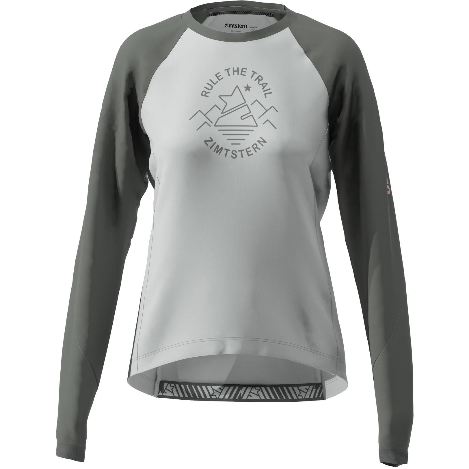 Zimtstern PureFlowz Langarm-Shirt Damen - glacier grey/gun metal