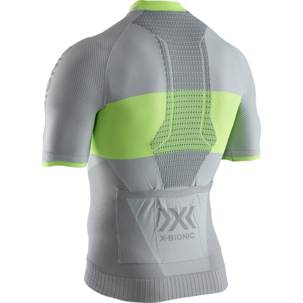 Bild von X-Bionic Invent 4.0 Bike Race Zip Kurzarmtrikot für Herren - dolomite grey/phyton yellow