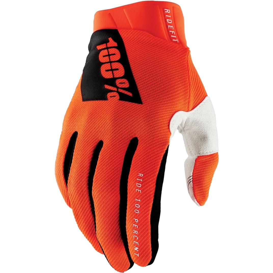 100% Ridefit Guantes - fluo orange