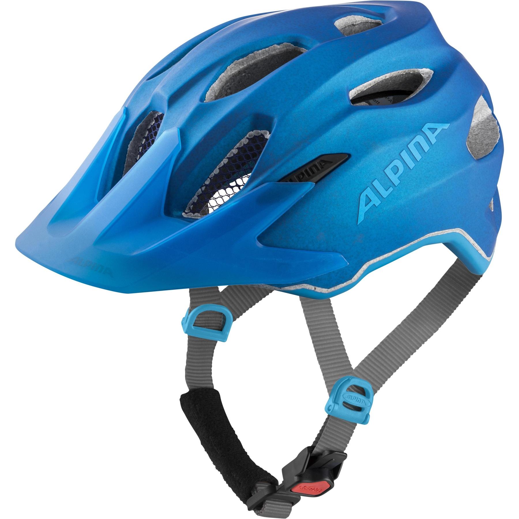 Alpina Carapax JR. Flash Kids Helmet - true-blue matt