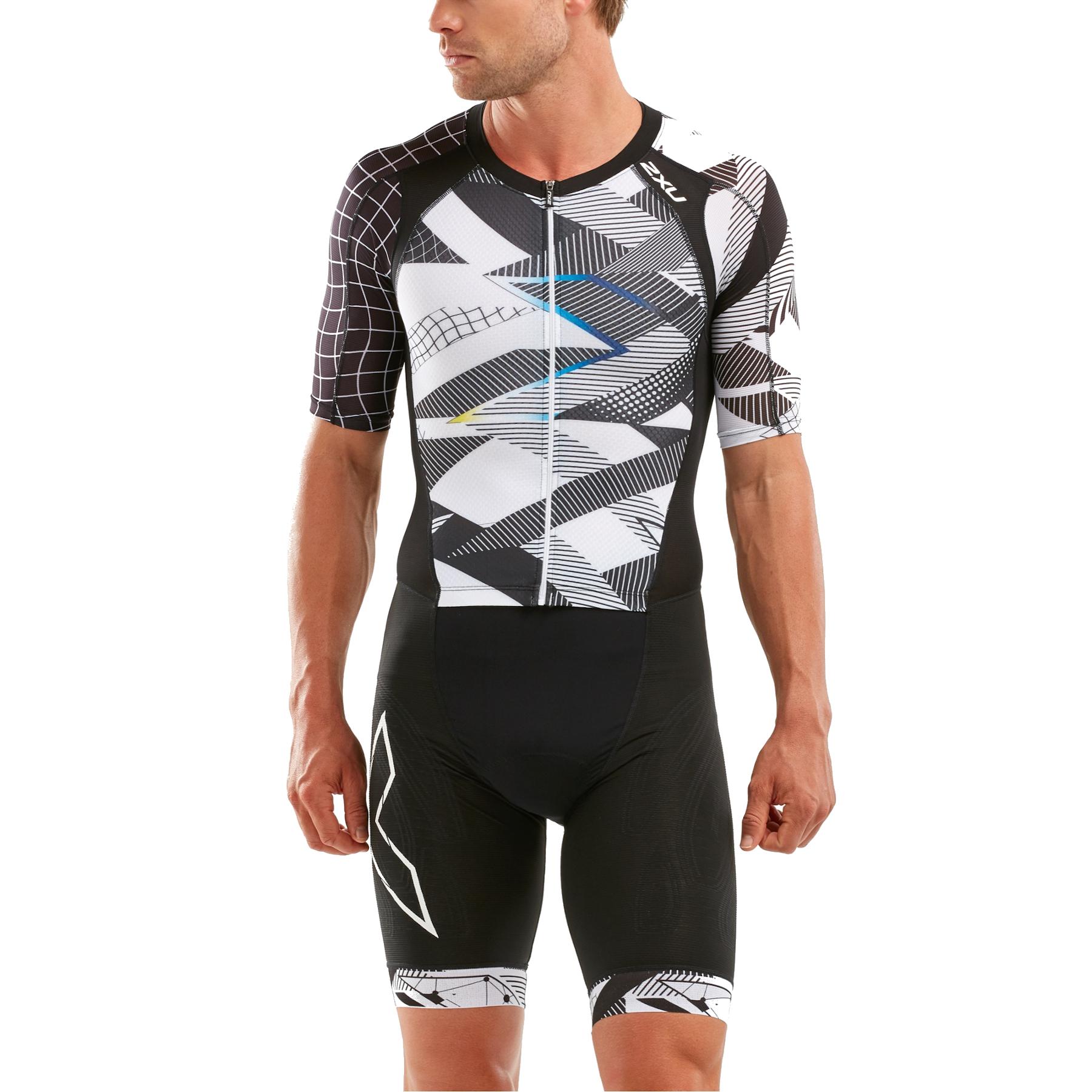 2XU Compression Full Zip Sleeved Trisuit - black/chroma
