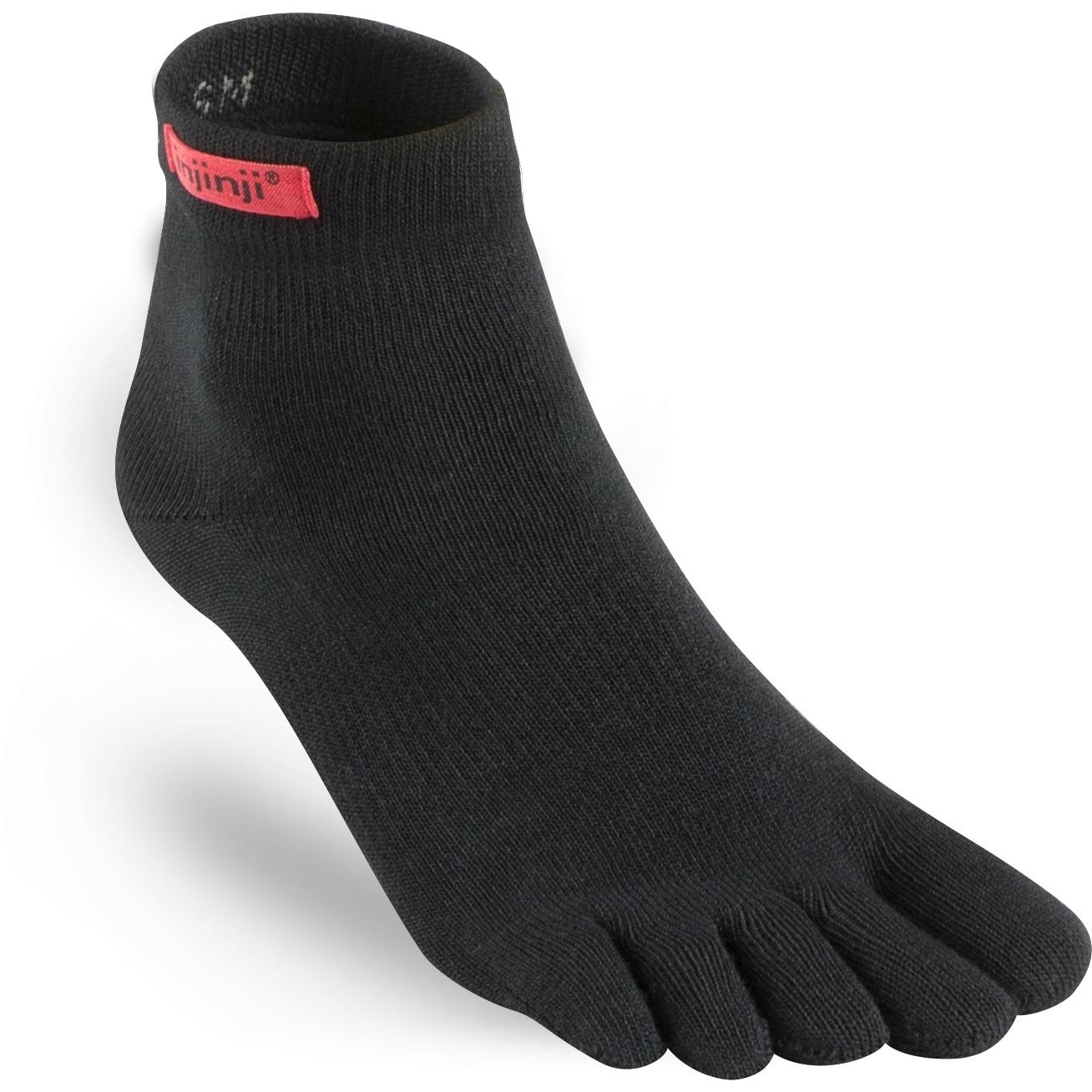 Injinji Sport Original Weight Mini-Crew Coolmax Socken - schwarz