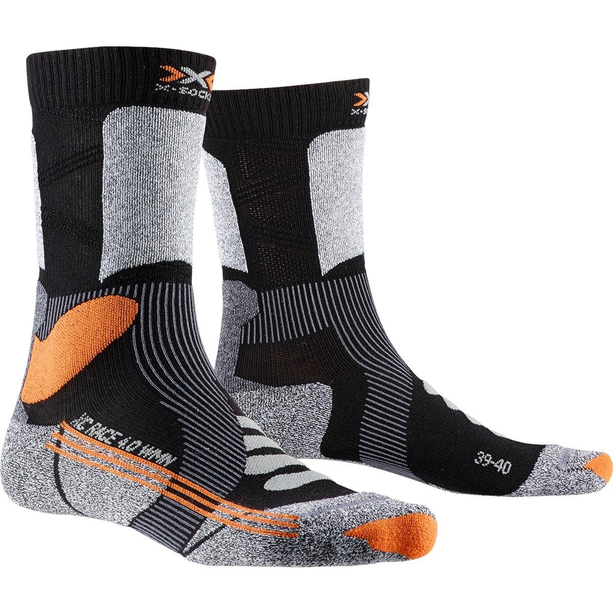 Bild von X-Socks X-Country Race 4.0 Socken für Damen - black/stone grey melange