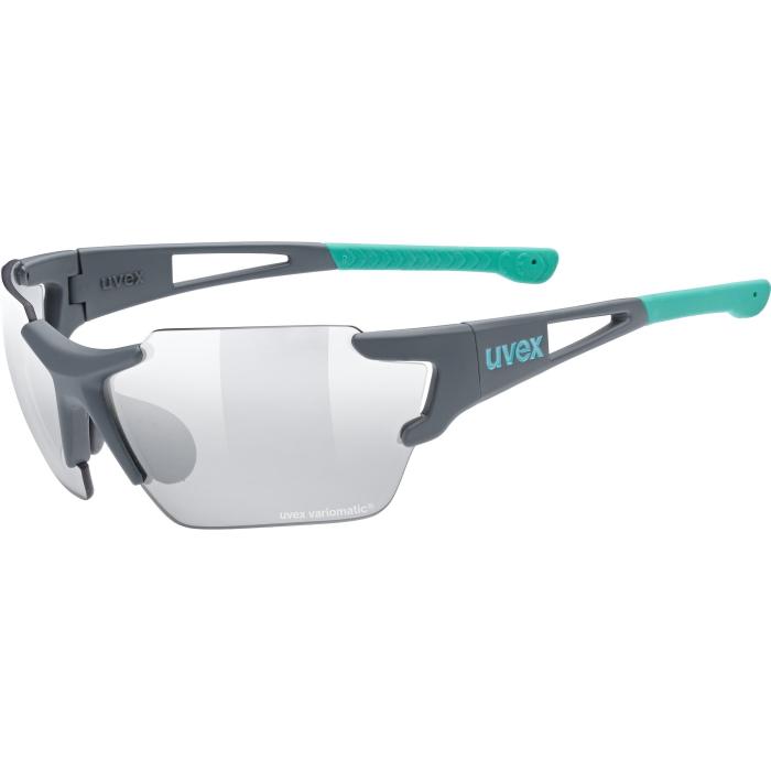 Uvex sportstyle 803 race small vario Glasses - grey mat mint - litemirror silver