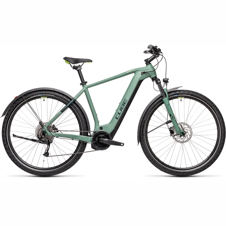 Image of CUBE NATURE HYBRID ONE 500 Allroad - E-Bike - 2021 - green/sharpgreen