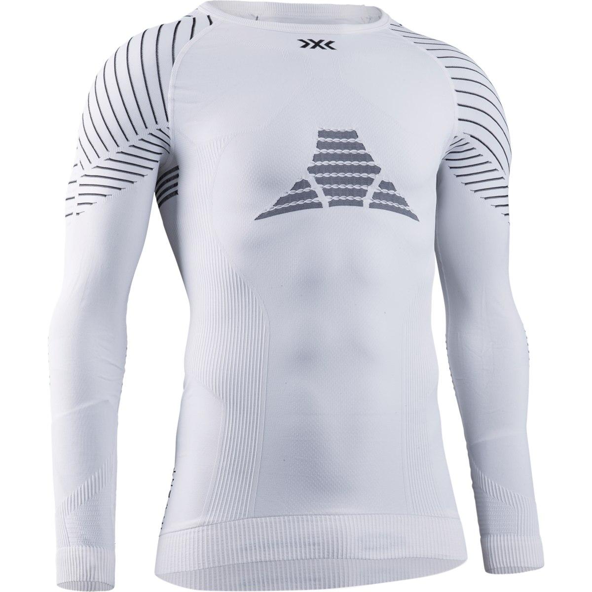 X-Bionic Invent 4.0 Cuello redondo Camiseta de manga larga para hombre - white/black