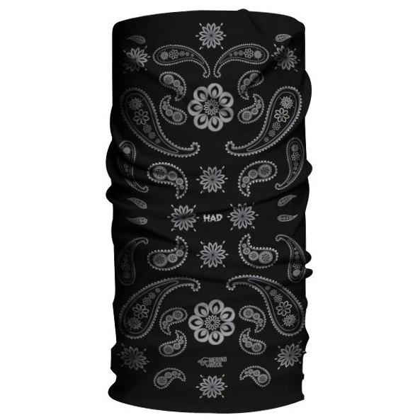 HAD Merino Multifunctional Cloth - India Paisley Black