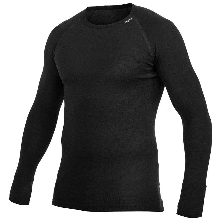 Woolpower Crewneck LITE Unisex Langarm-Unterhemd - schwarz