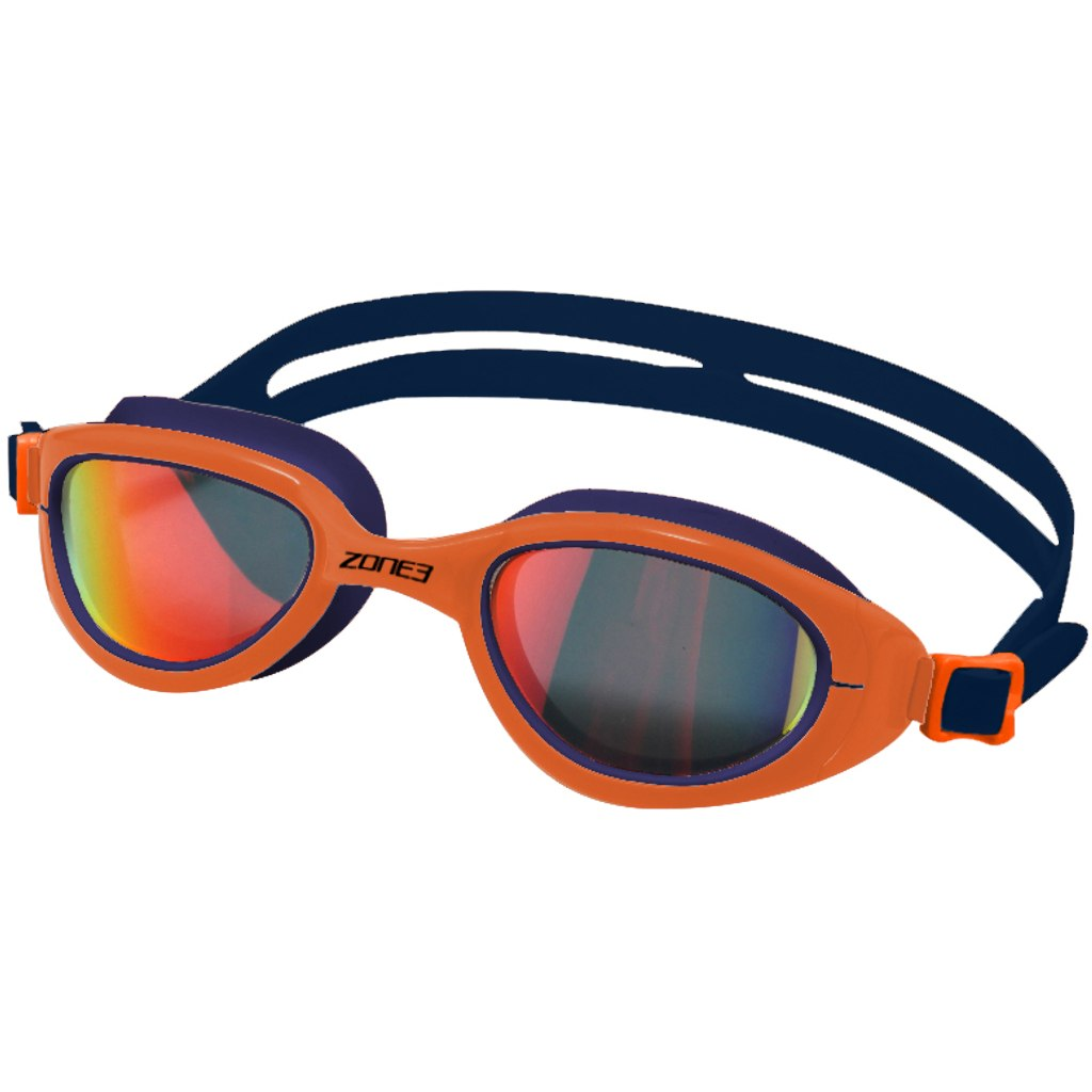Zone3 Attack Goggles - Polarised Schwimmbrille - navy/hi-vis orange