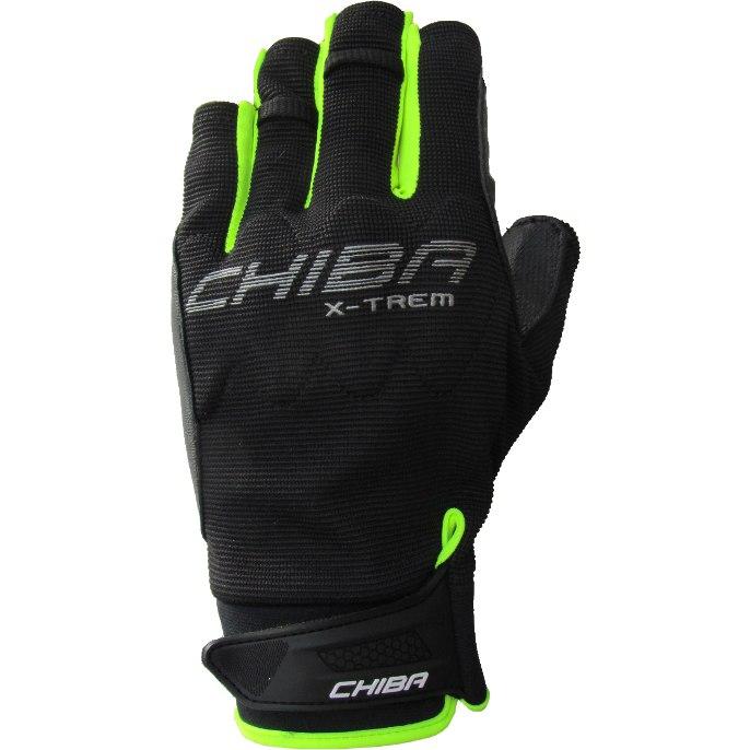 Picture of Chiba Via Ferrata Extrem Bike Gloves - black/neon yellow