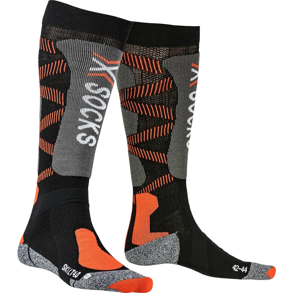 X-Socks Ski Light 4.0 Socken - black/x-orange