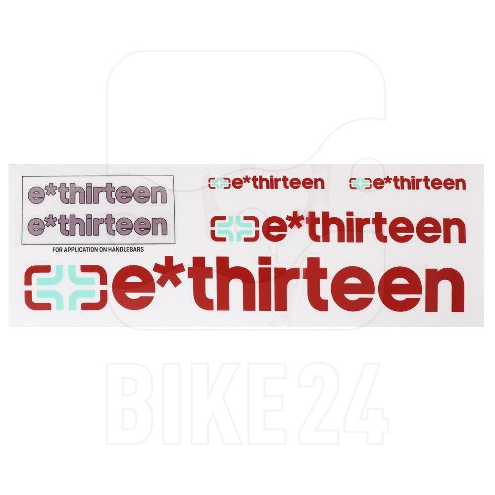 e*thirteen Handlebar Decal Kit & Sticker Pack - eggplant