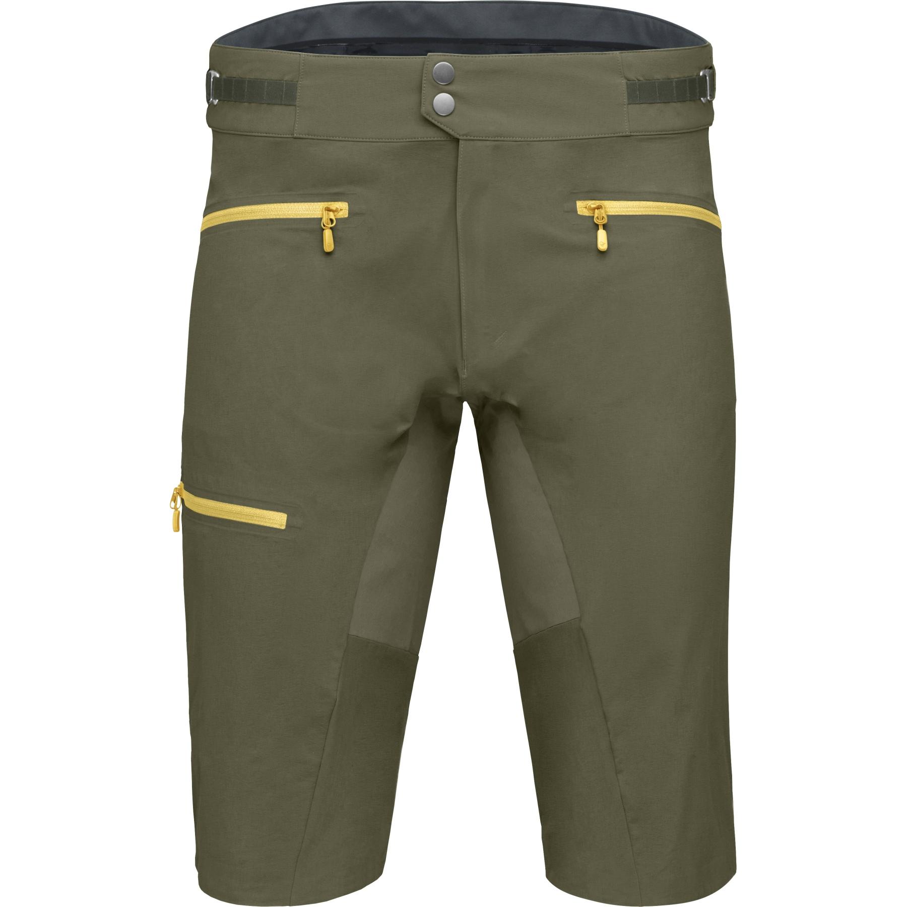 Norrona fjora flex1 mid weight Pantalones cortos para hombres - Olive Night/Lemon Chrome
