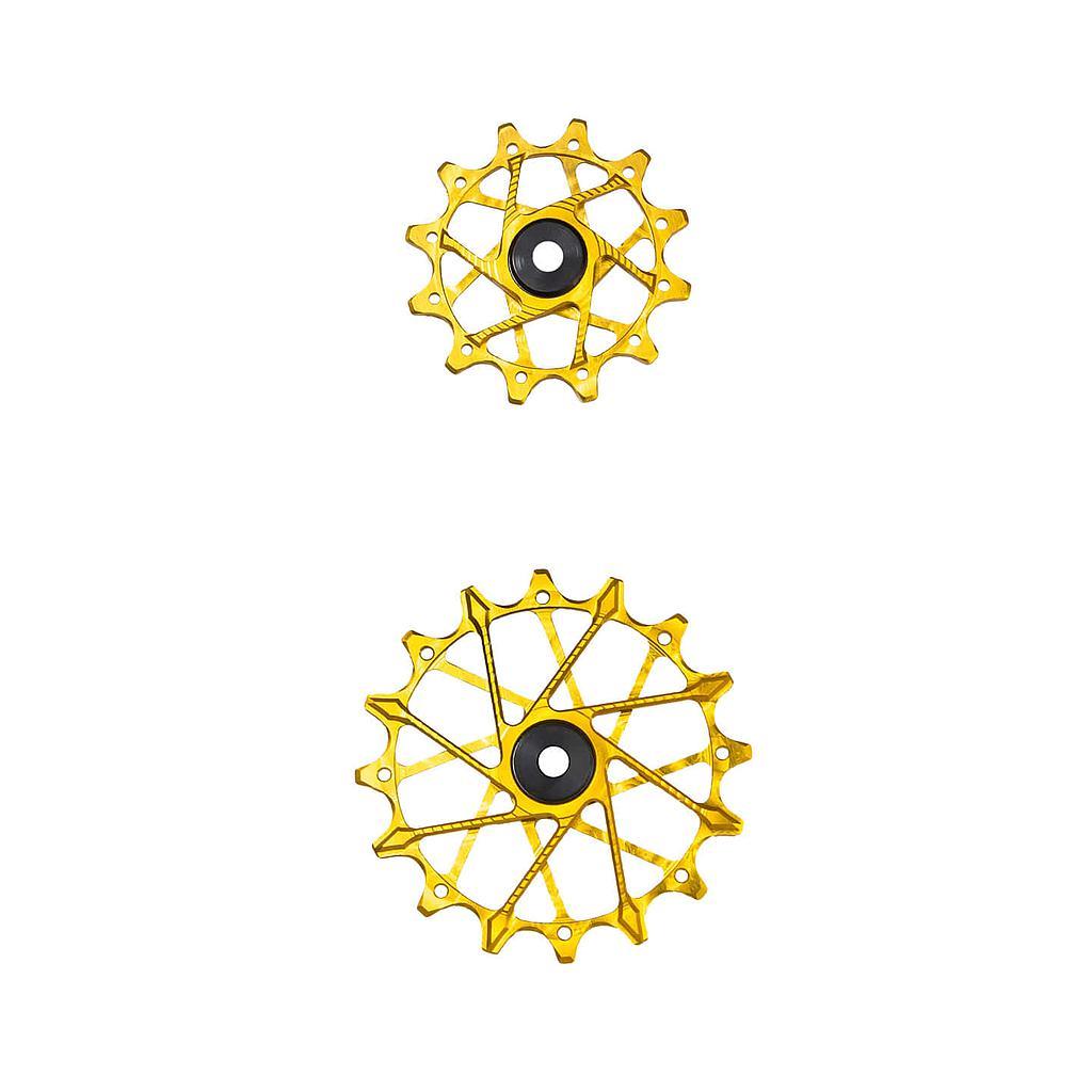 Garbaruk Derailleur Pulleys for SRAM 11/12-speed Rear Derailleurs with Standard Cage (Pair) - 12T + 14T