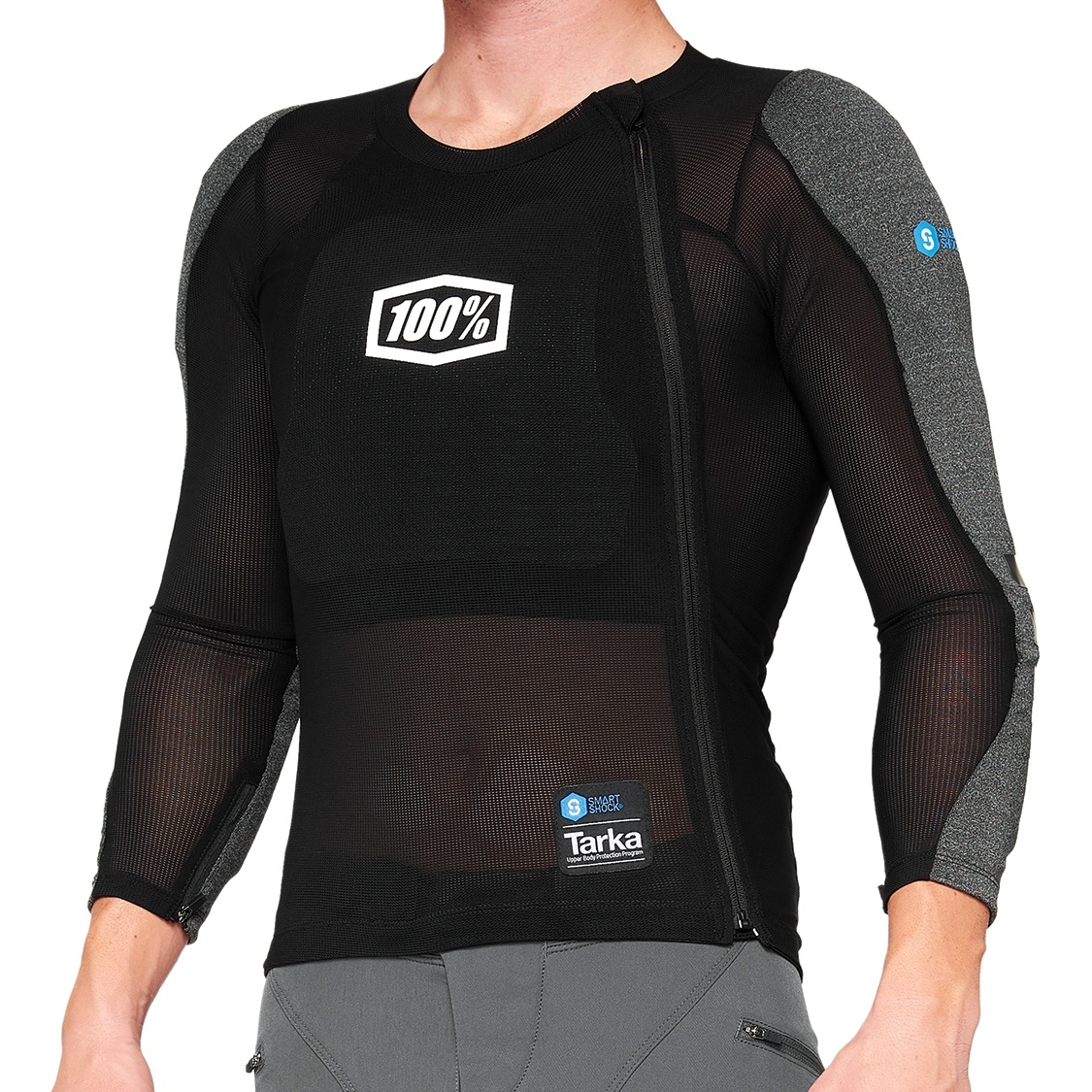100% Tarka Long Sleeve Protection Chaleco - negro