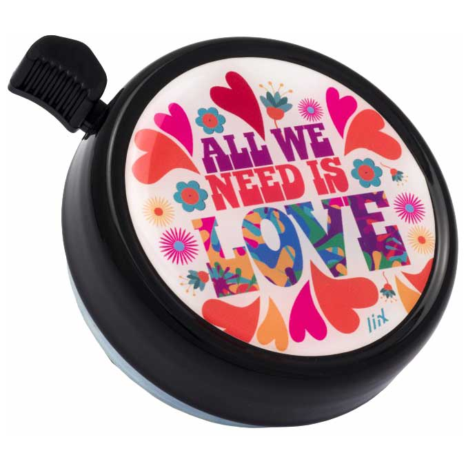 Liix Big Colour Bell Fahrradklingel - All we need is Love Black