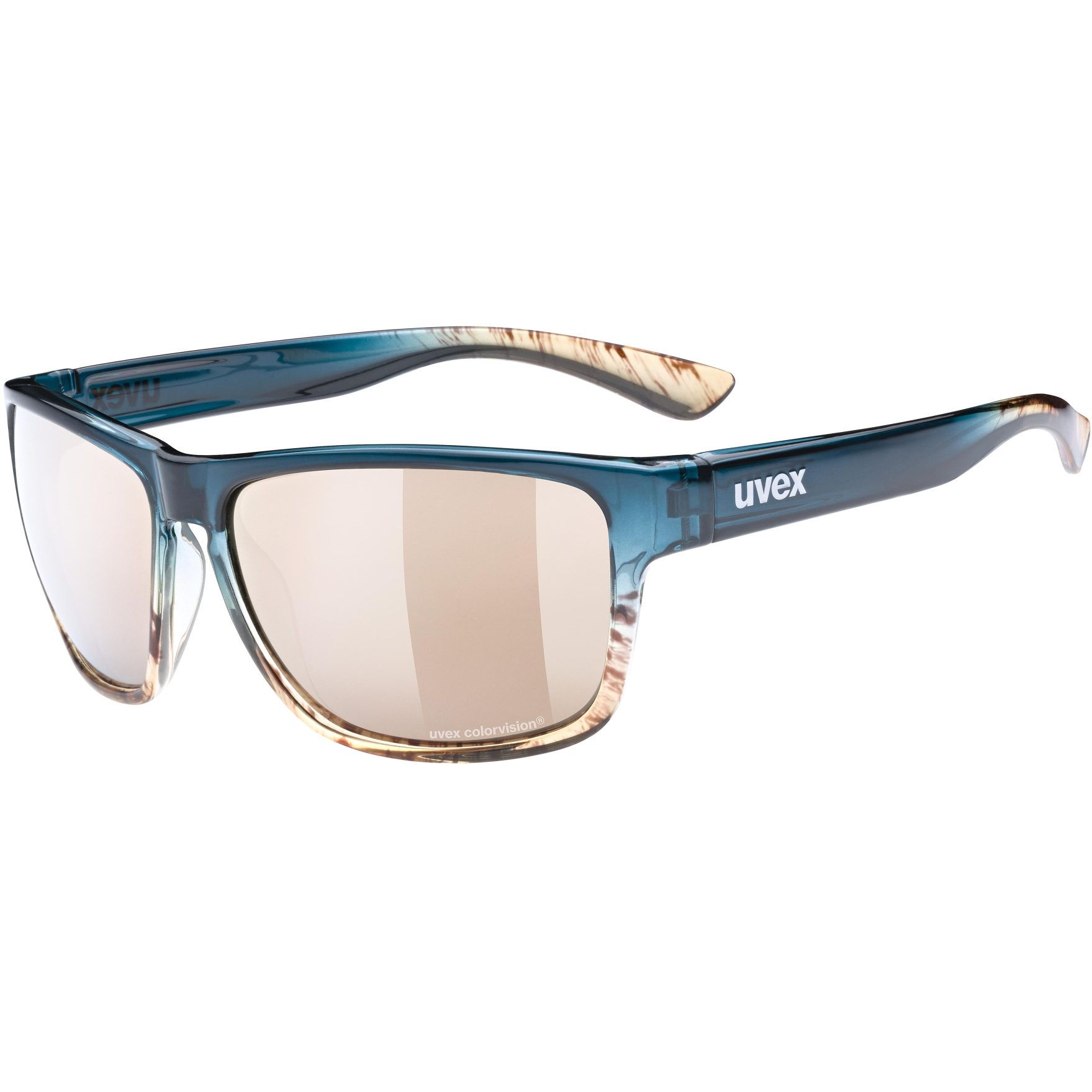 Uvex lgl 36 CV Brille - peacock sand/colorvision mirror champagne