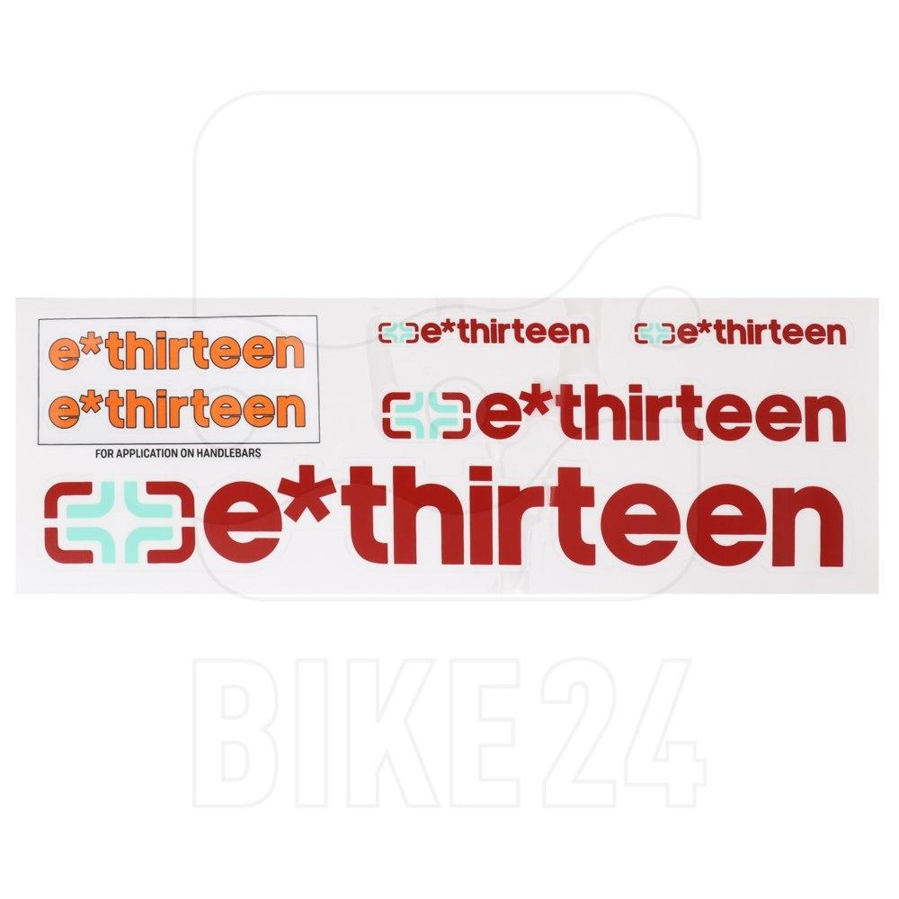 e*thirteen Handlebar Decal Kit & Sticker Pack - burnt orange