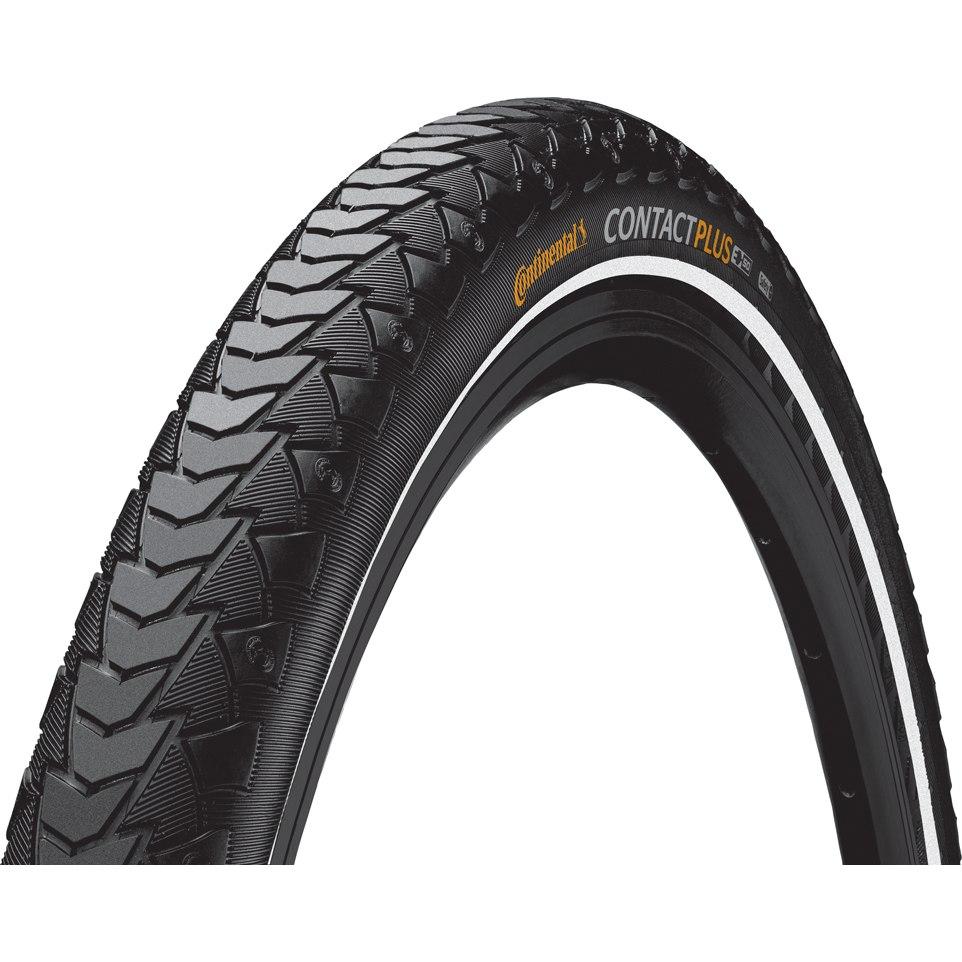 """Continental Contact Plus E-Bike Wire Bead Tire ECE-R75 - 28"""" (622) - Black Reflex"""