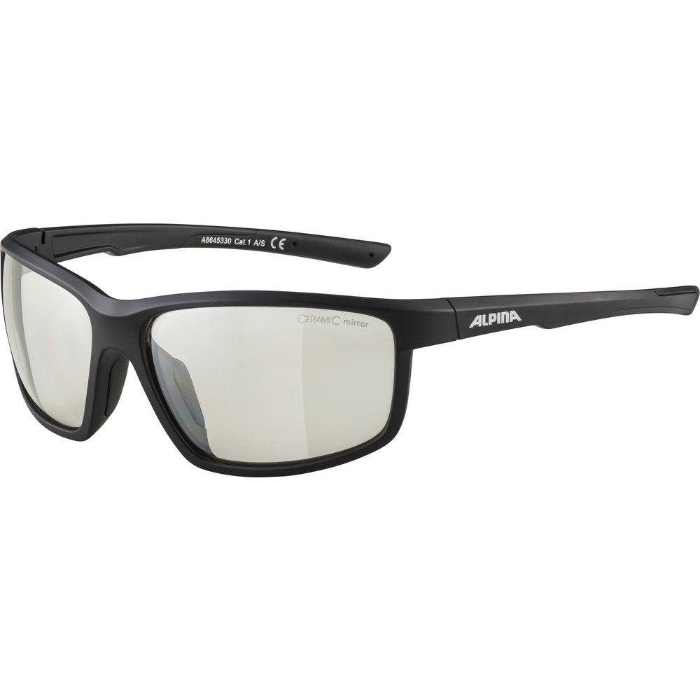 Alpina Defey Glasses - black matt / clear mirror