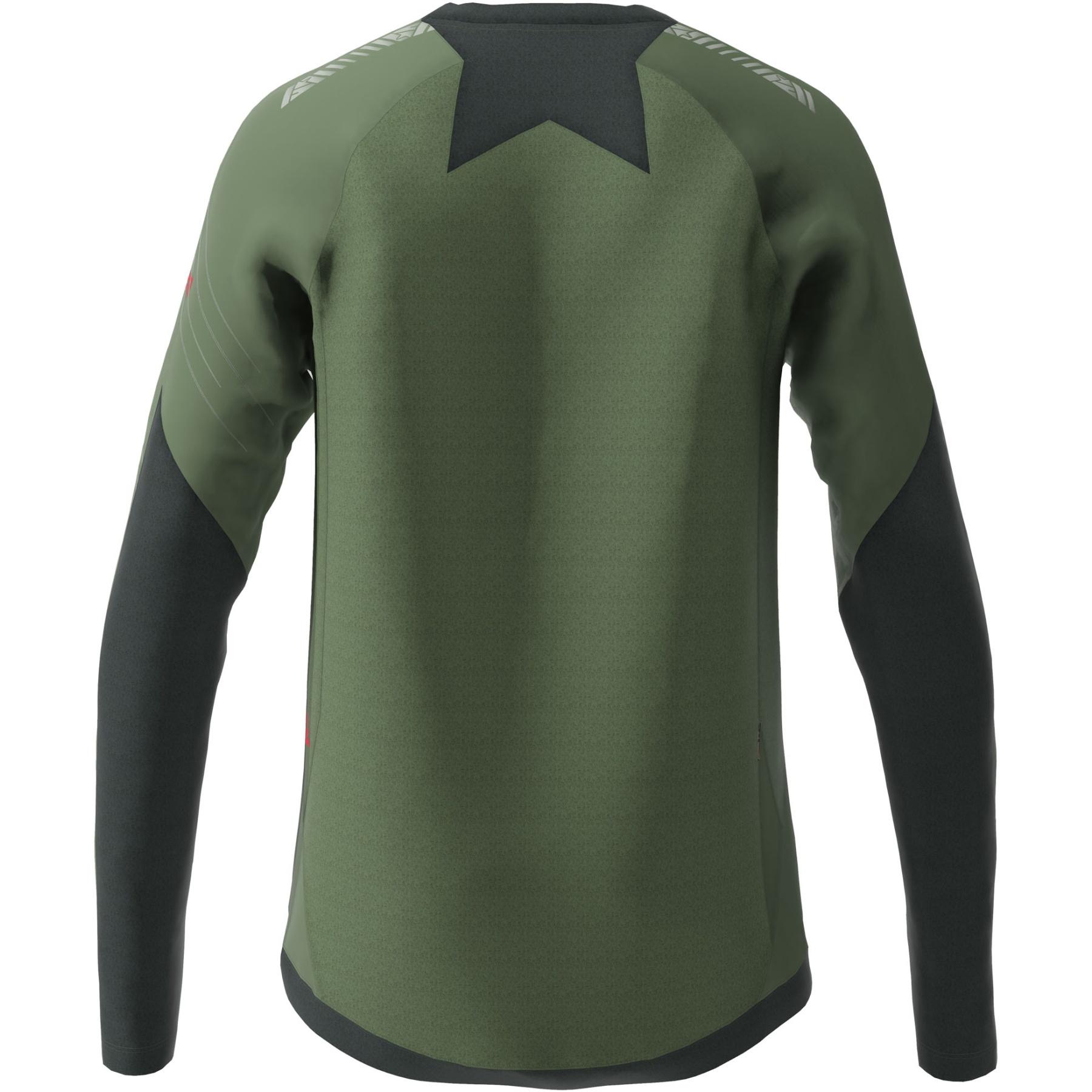 Bild von Zimtstern ProTechZonez Langarm-Shirt - bronze green/pirate black